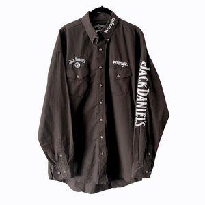 Men's Jack Daniels Wrangler Button Down Shirt